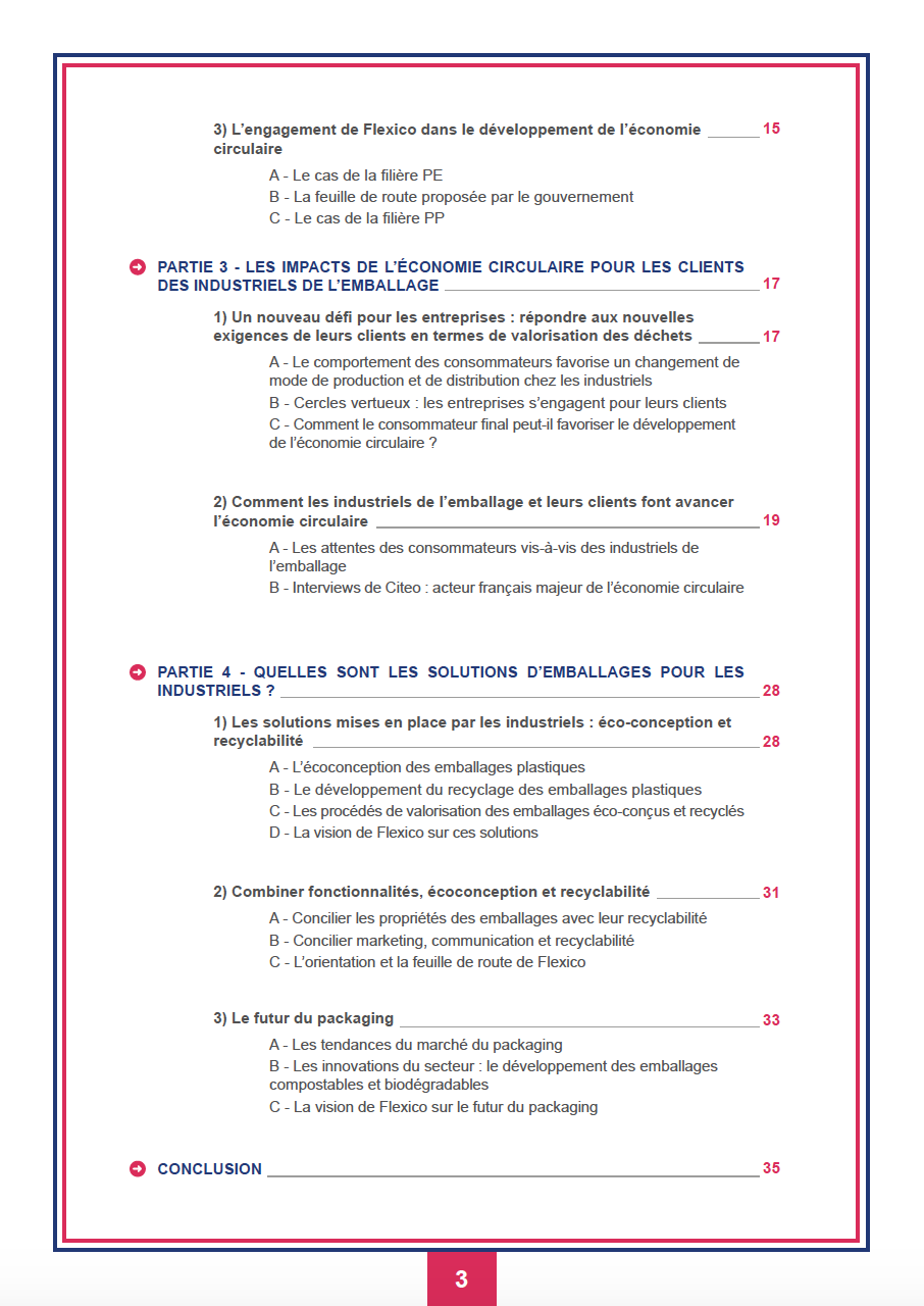 Sommaire Guide de l'emballage - page 2